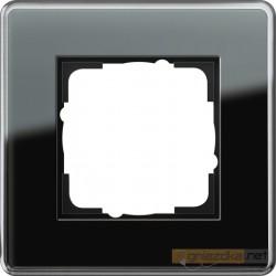 Ramka pojedyncza czarne szkło C Gira Esprit