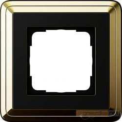 Ramka pojedyncza mosiądz-czarny Gira ClassiX