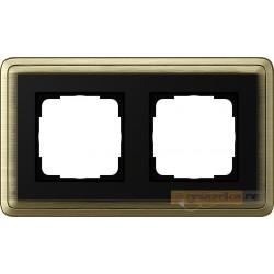 Ramka podwójna brąz/czarny Gira ClassiX