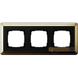 Ramka potrójna mosiądz-czarny Gira ClassiX
