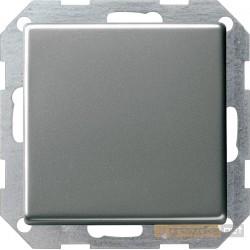 Łącznik przyciskowy przełączalny naturalny stalowy Gira E22