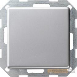 Łącznik przyciskowy krzyżowy podśw. aluminium Gira E22