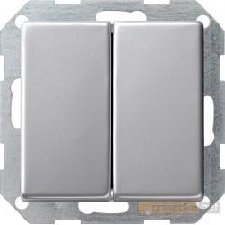 Łącznik przyciskowy świecznikowy aluminium Gira E22