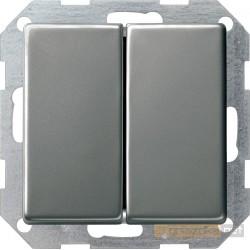 Łącznik przyciskowy przeł./przeł. naturalny stalowy Gira E22