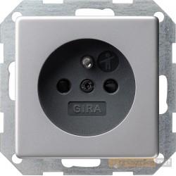 Gniazdo z uziemieniem. aluminium Gira E22