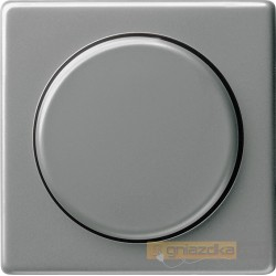 Ściemniacz do lamp żarowych (wł. przycisk.) naturalny stalowy Gira E22