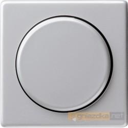 Ściemniacz do lamp żarowych (wł. przycisk.) aluminium Gira E22