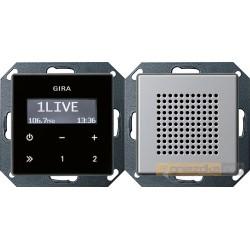 Radio pt. RDS aluminium Gira E22