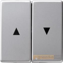 Przycisk żaluzjowy aluminium Gira E22