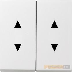 Przycisk kołyskowy poczwórny (zwierny) biały Gira F100