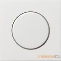 Potencjometr elektroniczny (wł. przycisk.) f. impulsowa biały Gira F100