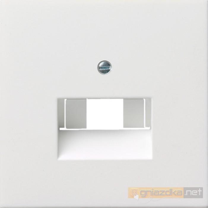 Gniazdo internetowe kat.5 ekran. pojedyncze białe Gira F100
