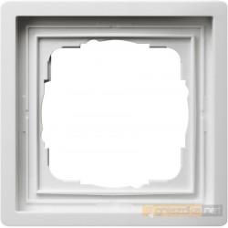 Ramka pojedyncza biały Gira F100