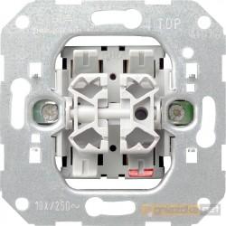 Łącznik podwójny seryjny (świecznikowy) chrom Gira System 55