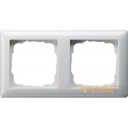 Ramka podwójna biały Gira Standard 55
