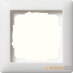 Ramka pojedyncza matowy biały mat Gira Standard 55