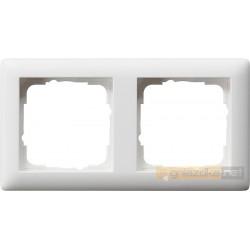 Ramka podwójna matowy biały mat Gira Standard 55