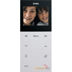 Unifon wideo AP System 55 matowy biały mat Gira Wideodomofony