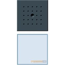 Bramofon podtynkowy pojedyncza antracyt Gira Wideodomofony