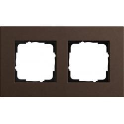Ramka podwójna brązowy Gira Esprit