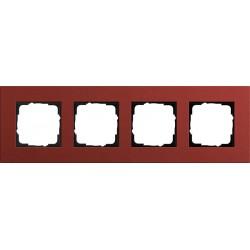 Ramka poczwórna czerwony Gira Esprit