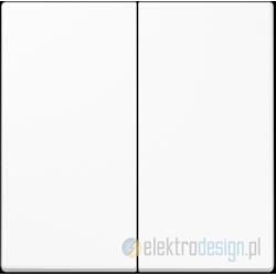 Włącznik podwójny (seryjny) biały, JUNG LS 990