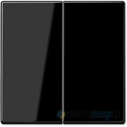 Włącznik podwójny (seryjny) czarny, JUNG LS 990