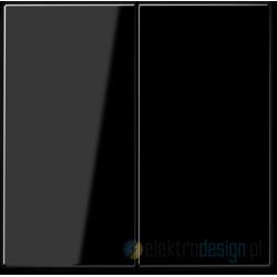 Włącznik podwójny (seryjny) schodowy czarny, JUNG LS 990