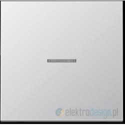 Włącznik pojedynczy z podświetleniem, aluminiowy JUNG LS Aluminium