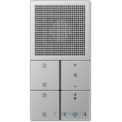 Radio podtynkowe, aluminium JUNG