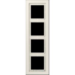 Ramka 4-krotna kremowa Jung LS Design