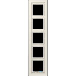 Ramka 5-krotna kremowa Jung LS Design