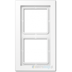 Ramka 2-krotna biała Jung LS Design