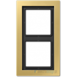 Ramka 2-krotna mosiądz klasyczny Jung LS Design