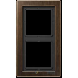 Ramka 2-krotna mosiądz antyczny Jung LS Design