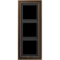Ramka 3-krotna mosiądz antyczny Jung LS Design
