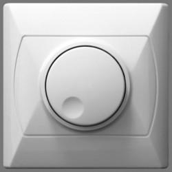 Ściemniacz przystosowany do obciążenia biały Akcent Ospel