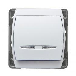 Łącznik kontrolny z podświetleniem, biały Gazela Ospel