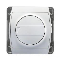 Ściemniacz przyciskowo-obrotowy biały Gazela Ospel