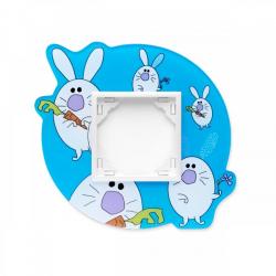 Ramka 1-krotna, dziecięca: Niebieskie Króliki, EFAPEL