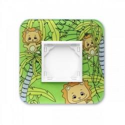 Ramka 1-krotna, dziecięca: Zielone Lwy, EFAPEL