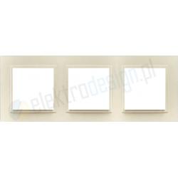 EFAPEL Animato perłowy. Ramka potrójna Logus 90