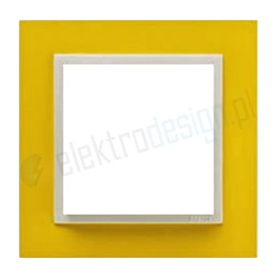 EFAPEL Animato żółty / lodowy. Ramka pojedyncza Logus 90