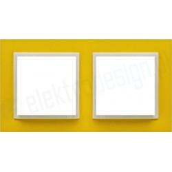 EFAPEL Animato żółty / lodowy. Ramka podwójna Logus 90