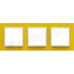 EFAPEL Animato zółty / lodowy. Ramka potrójna Logus 90
