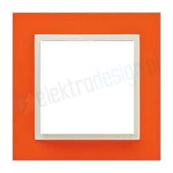 EFAPEL Animato pomarańczowy / lodowy. Ramka pojedyncza Logus 90