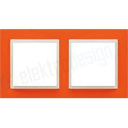 EFAPEL Animato pomarańczowy / lodowy. Ramka podwójna Logus 90