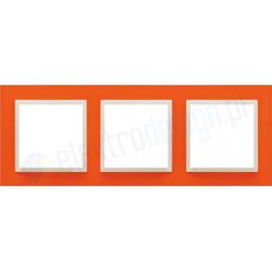 EFAPEL Animato pomarańczowy / lodowy. Ramka potrójna Logus 90