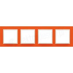 EFAPEL Animato pomarańczowy / lodowy. Ramka poczwórna Logus 90