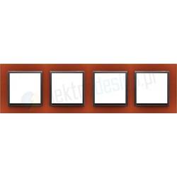 EFAPEL Animato intensywny pomarańcz / grafit. Ramka poczwórna Logus 90